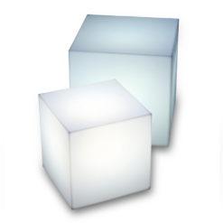 carre bleu location mobilier cube lumineux filaire 220V interieur exterieur