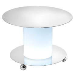 Carre bleu location vaisselle buffet presentoir rond lumineux