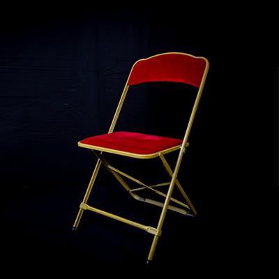 location chaise pliante velours rouge bordeaux Poitiers